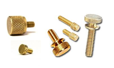 Brass Knurled Screws